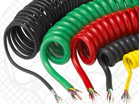 coiled power cord
